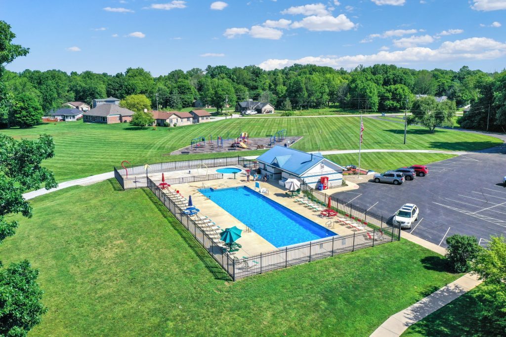 Heritage Lake community pool at the clubhouse.